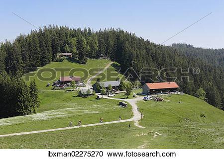 "Stock Photography of ""Gindelalm alp near Schliersee, Mangfall."