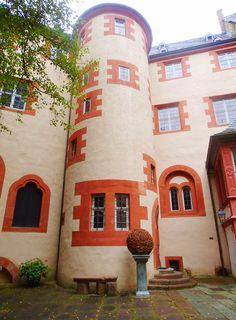 Burg Frankenstein near Darmstadt, Germany. They have a restaurant.