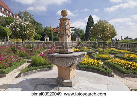 "Stock Photograph of ""Pomeranzengarten garden at Schloss Leonberg."