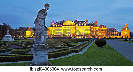 """Stock Photo of """"Schloss Nordkirchen palace with castle gardens."""