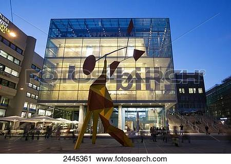 Stock Photography of Sculpture in front of art museum.