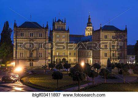 """Picture of """"Schloss Ehrenburg Castle, Schlossplatz, Castle Square."""