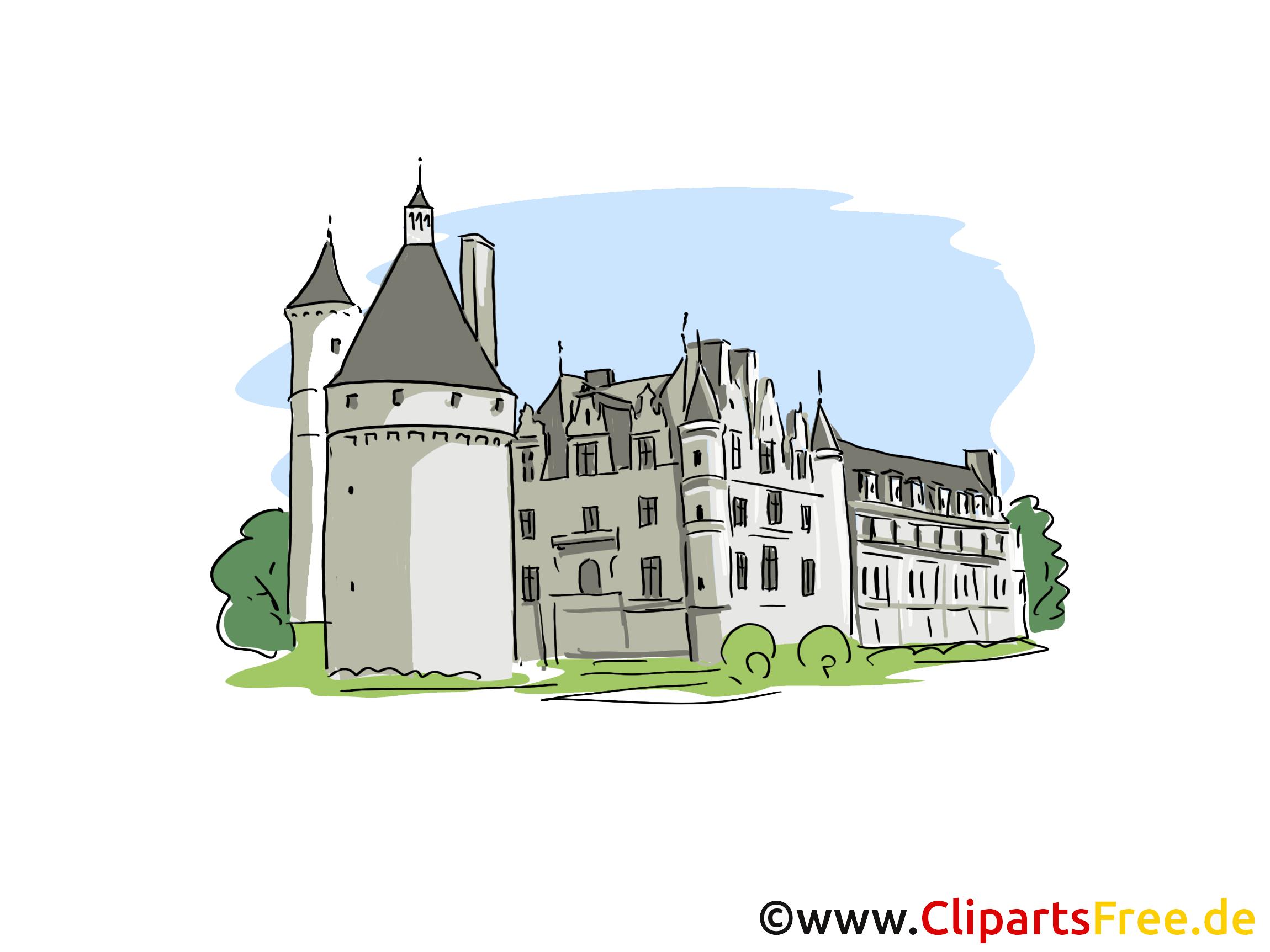 Schloss Clipart, Bild, Cartoon.