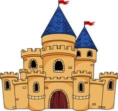 Medieval Cartoon Castle.