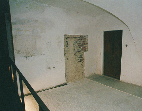 Interior of Hartheim gas chamber.