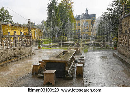 """Stock Photography of """"Prince's table, Roman theater, water."""