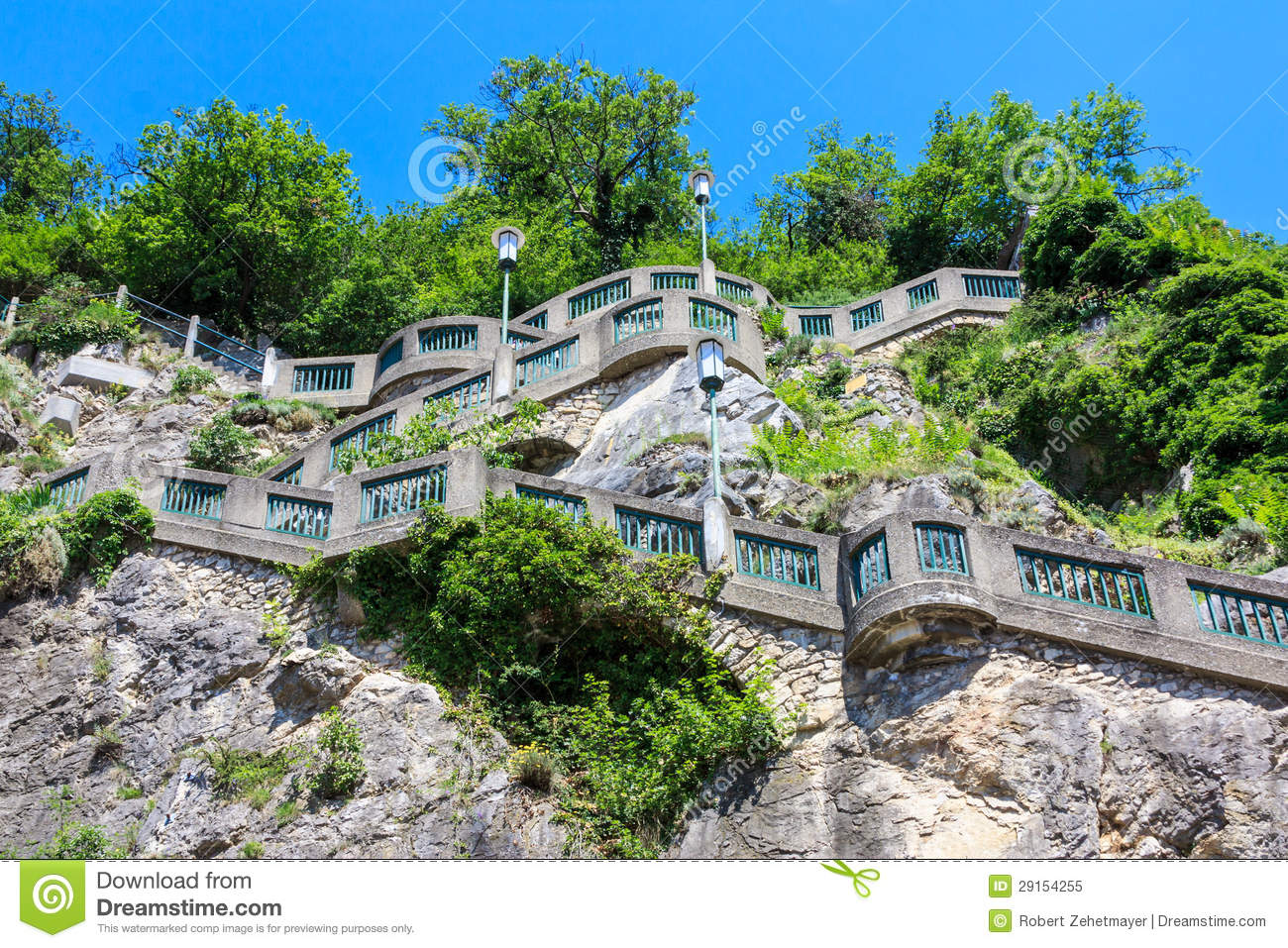 Graz, Stairs To Schlossberg Hill, Austria Royalty Free Stock Photo.