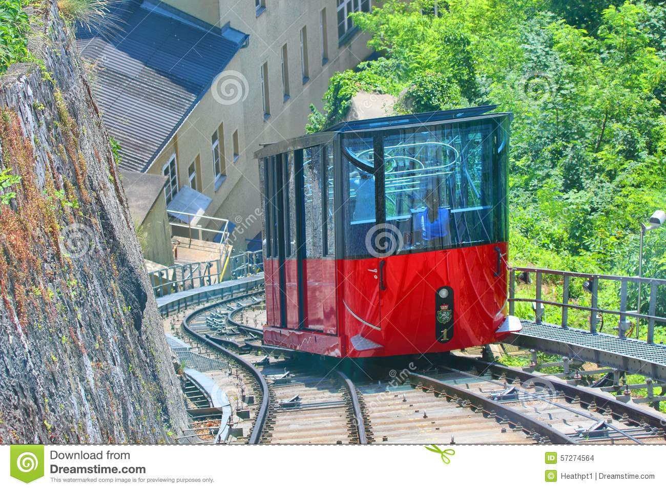 Graz Schlossberg Funicular Railway Stock Photo.