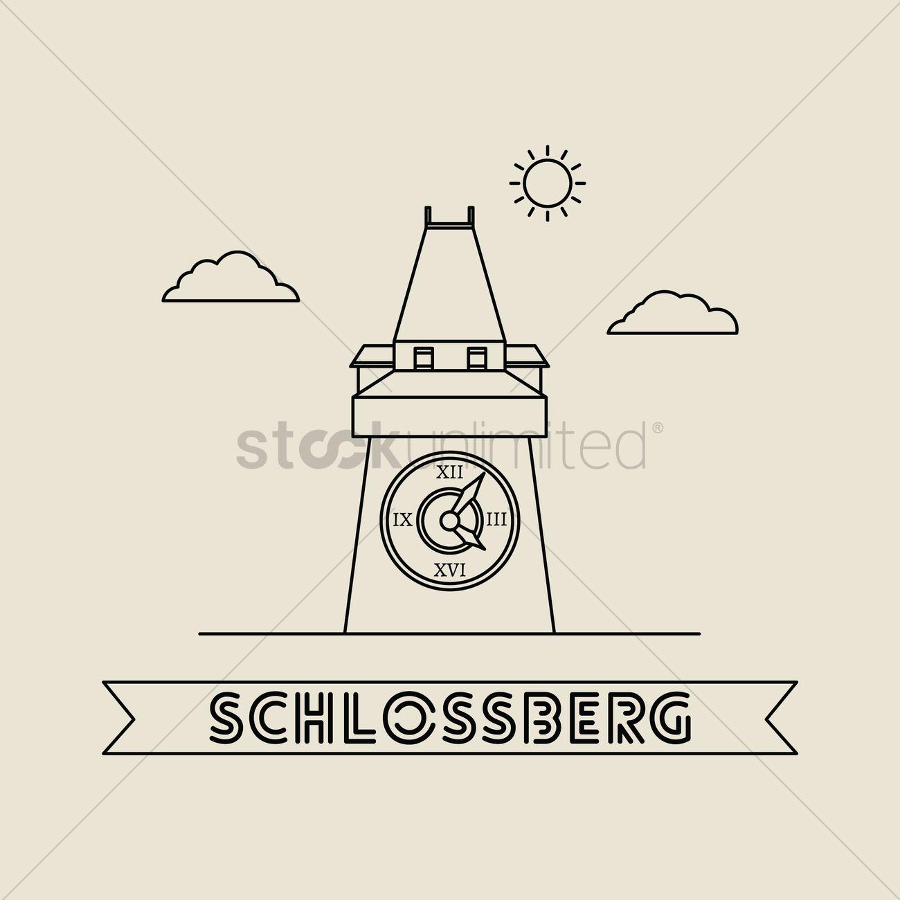 Schlossberg Vector Image.