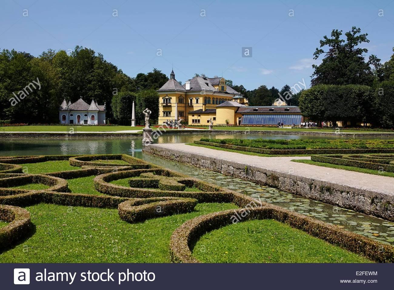 Austria, Land Of Salzburg, Garden Of Hellbrunn Palace (schloss.