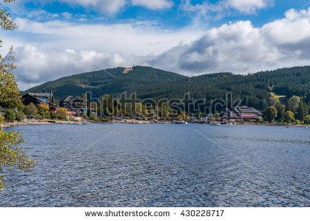 Lake Schluchsee Black Forest Stock fotos, billeder til fri.