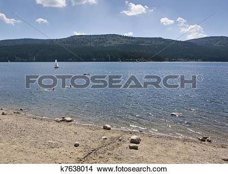Stock Photo of Schluchsee beach scenery k7638014.