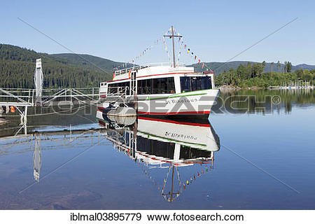 """Stock Photograph of """"Excursion boat on lake Schluchsee, Black."""