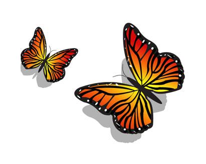 Schmetterling gelb clipart.