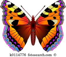 Schmetterling Rot Clipart.