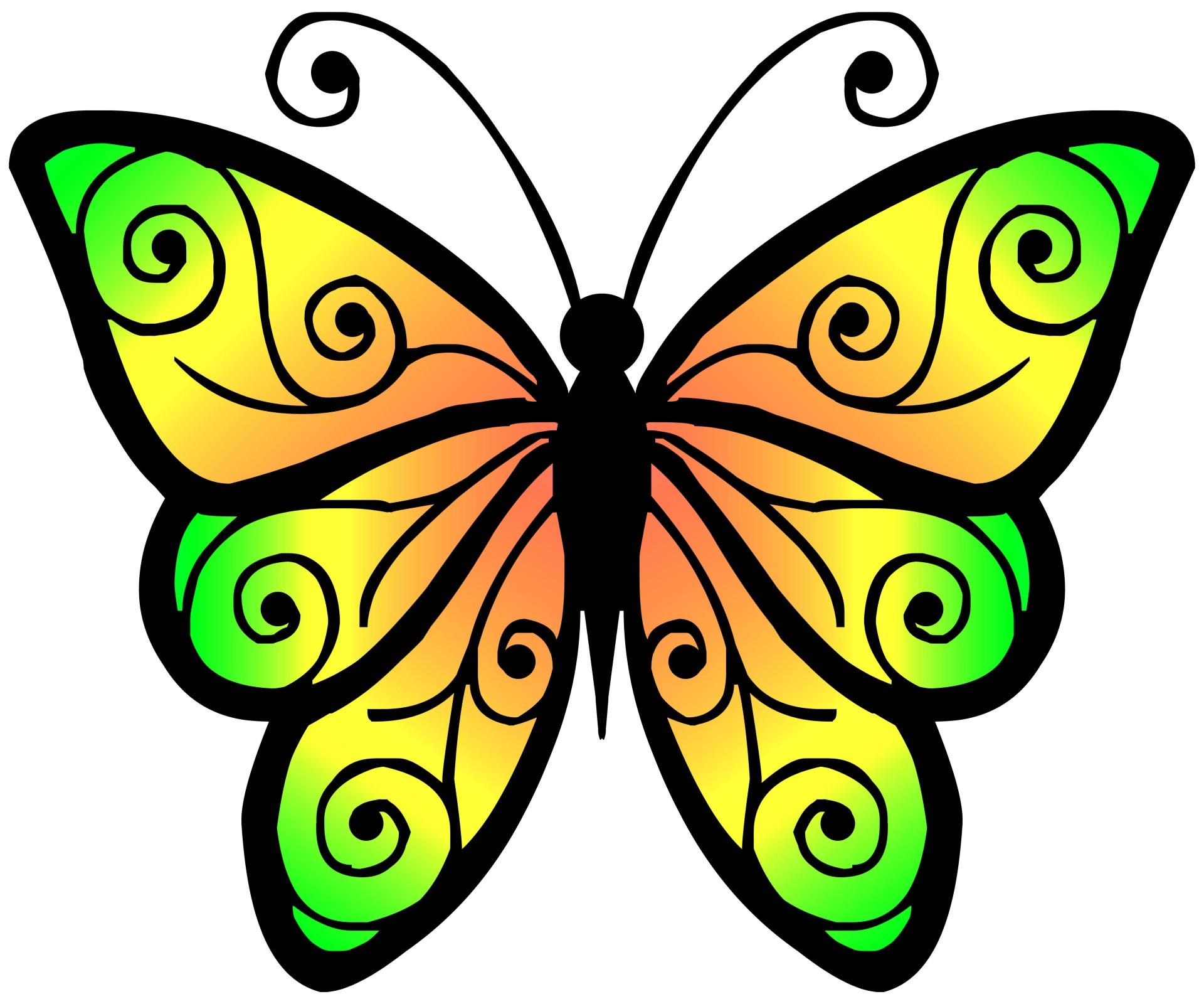 Clipart Schmetterling 4 Kostenloses Stock Bild.