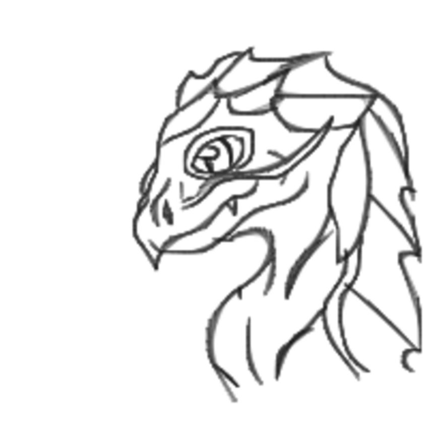 White Dragon Head   Judy Schmidt Clipart.