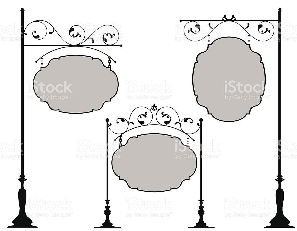 Schmiedeeisen Zeichen Vektor Illustration 96687834.