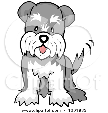 Free cartoon schnauzer dog clipart.