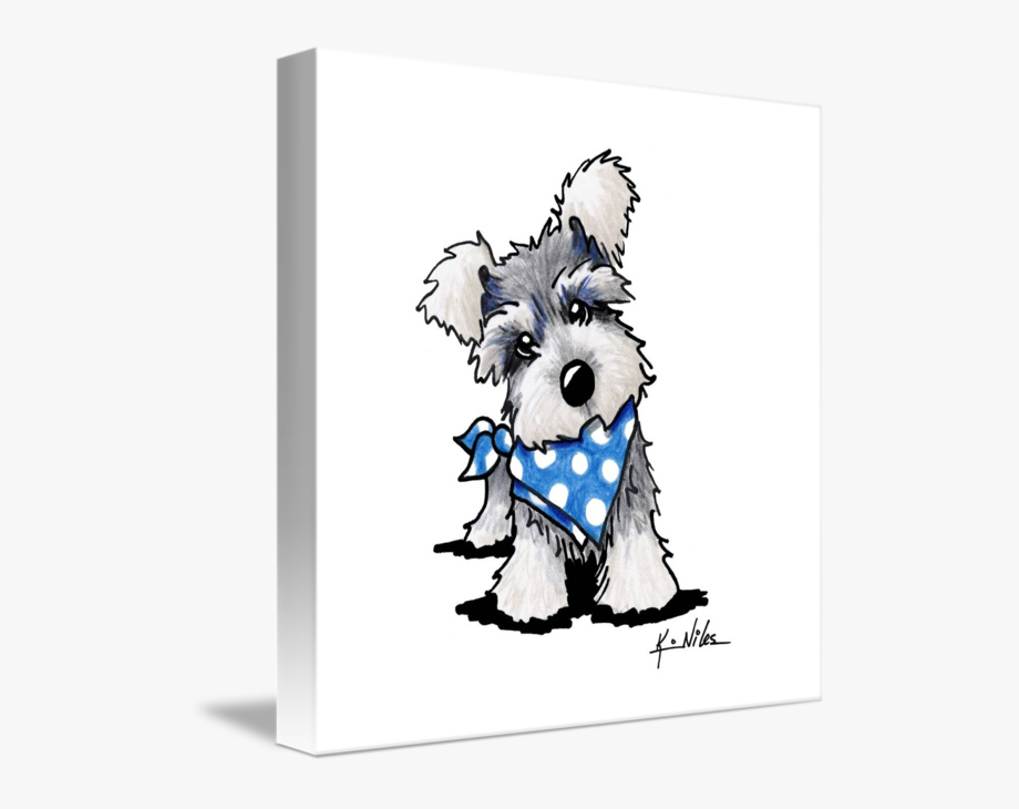 Schnauzer Dog Confirmation Clipart.