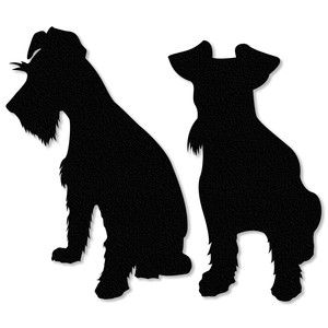 Silhouette Design Store: schnauzer puppy uncropped ears.