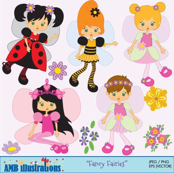 Fairy clipart, fairy clip art, clipart, commercial use, vector.