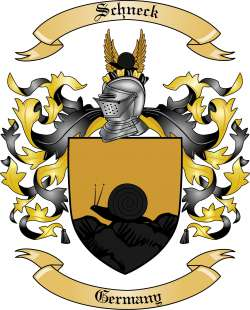 Schneck Family Crest from Germany by The Tree Maker.