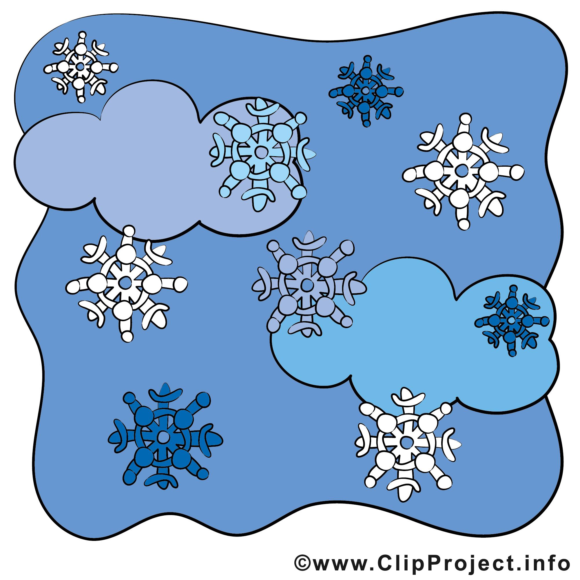 Schnee Bild.