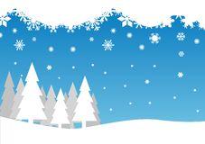 Snow Falling Trees Stock Illustrations.