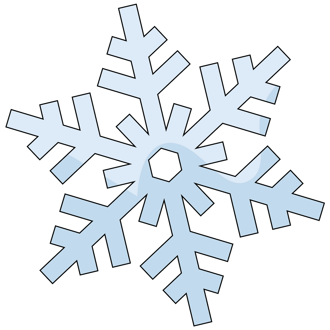 Snowflake clipart. Free download..