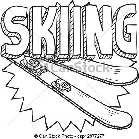 Skier im schnee clipart.