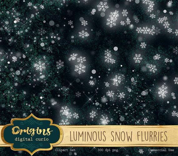 Leuchtende Schneetreiben Schnee Png Foto von OriginsDigitalCurio.