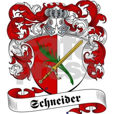 Schneider Family Crest Tile Coaster by familycoats.