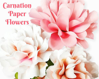 Paper Flower Templates SVG Files Styled von CatchingColorFlies.