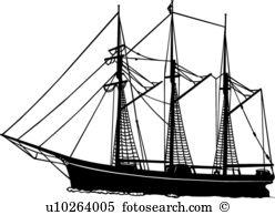 Schooner Clip Art and Illustration. 509 schooner clipart vector.