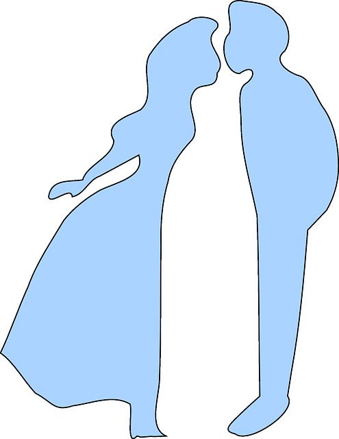 免费矢量图: 接吻, 蓝色, 婚礼, 爱, 吻, 情人节, 浪漫, 年轻, 夫妇.