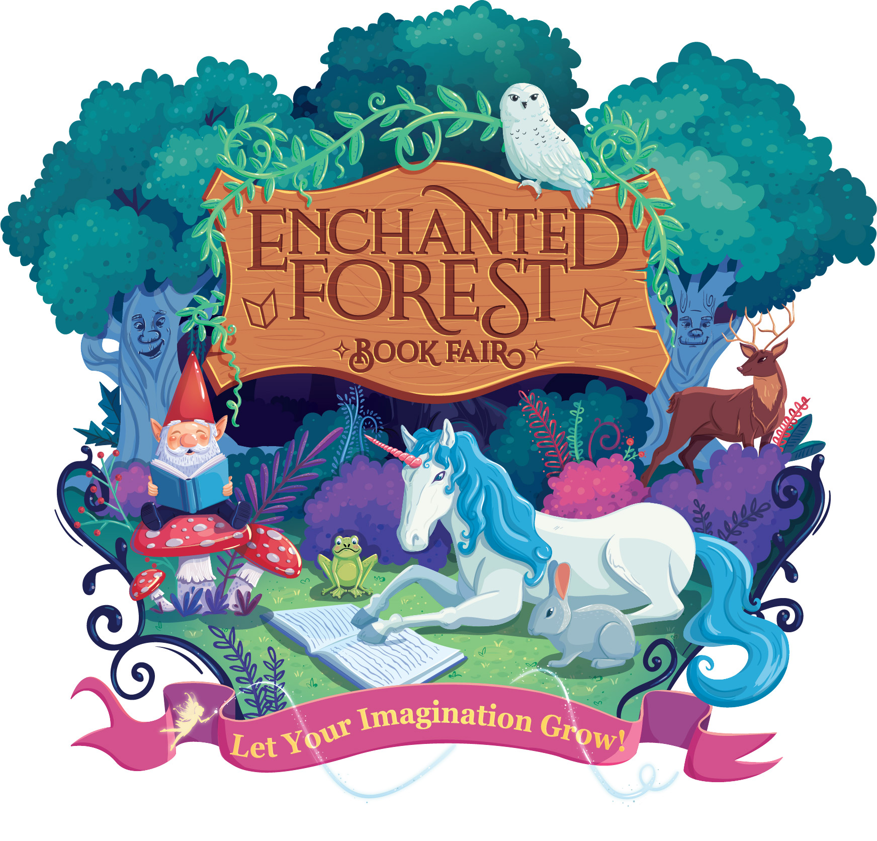 Enchanted Forest Book Fair: Let Your Imagination Grow.