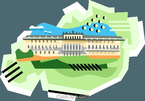 Schönbrunn Palace Vienna Schönbrunn Royalty Free Vector Clip Art.