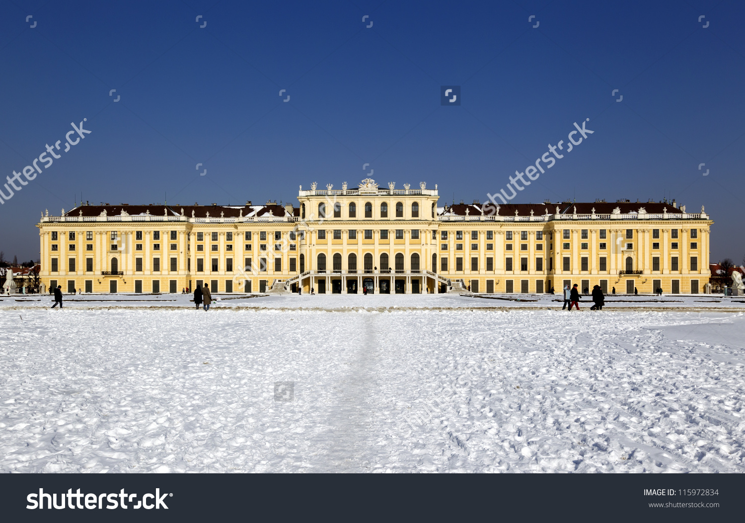 Schonbrunn Palace Vienna Stock Photo 115972834.