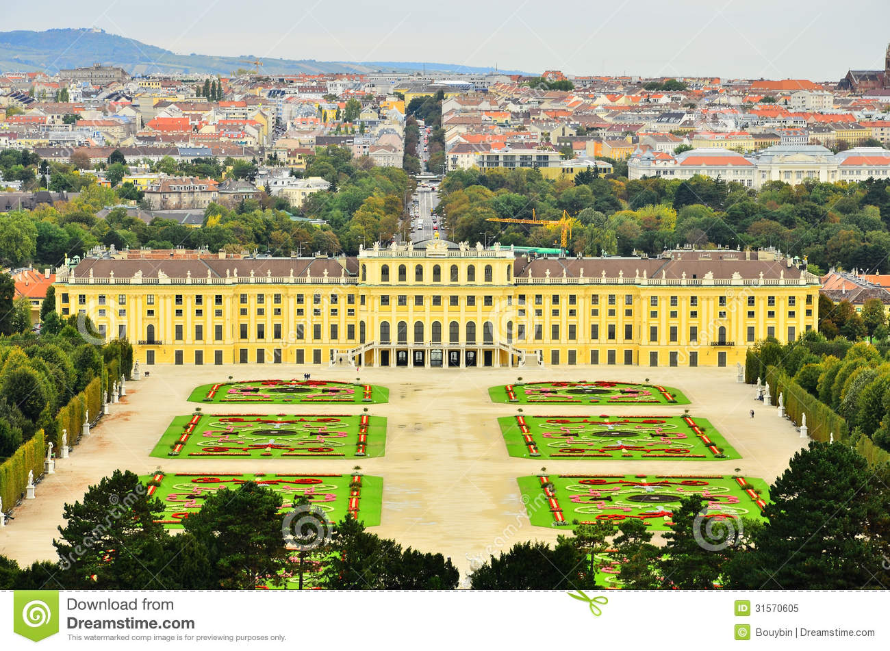Schonbrunn Palace And Park, Vienna, Austria Royalty Free Stock.