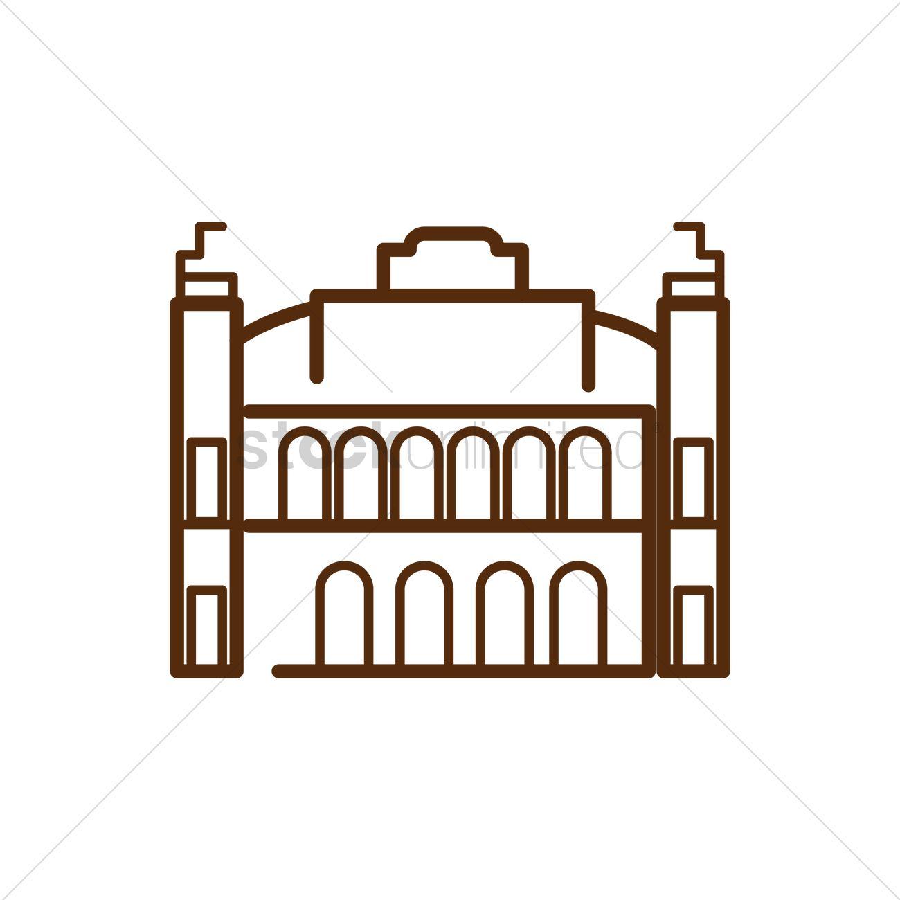 Schonbrunn palace Vector Image.