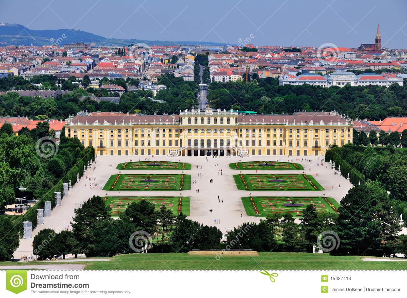 Schloss Schönbrunn, Vienna, Austria Royalty Free Stock Image.