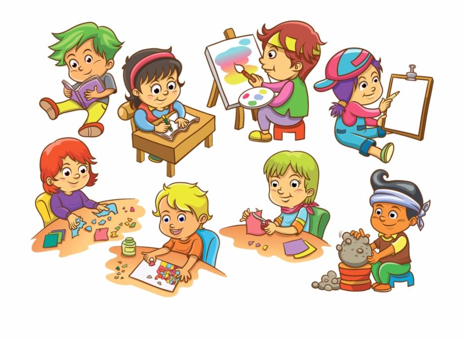 Cartoon Kids Activity Background.