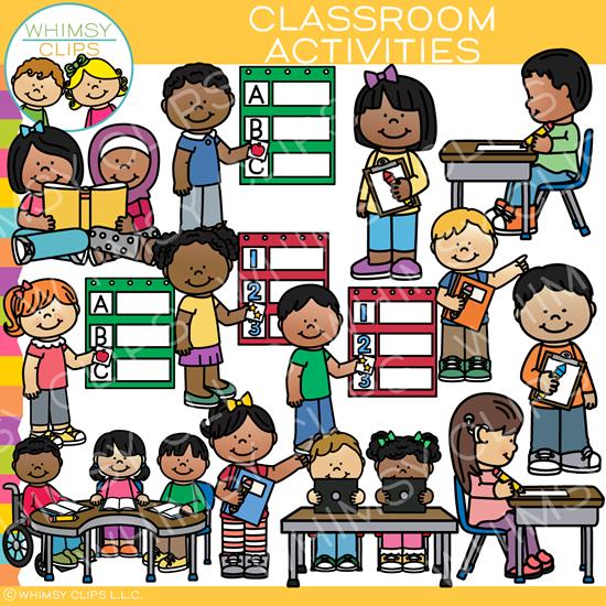 Classroom Activities Clip Art.
