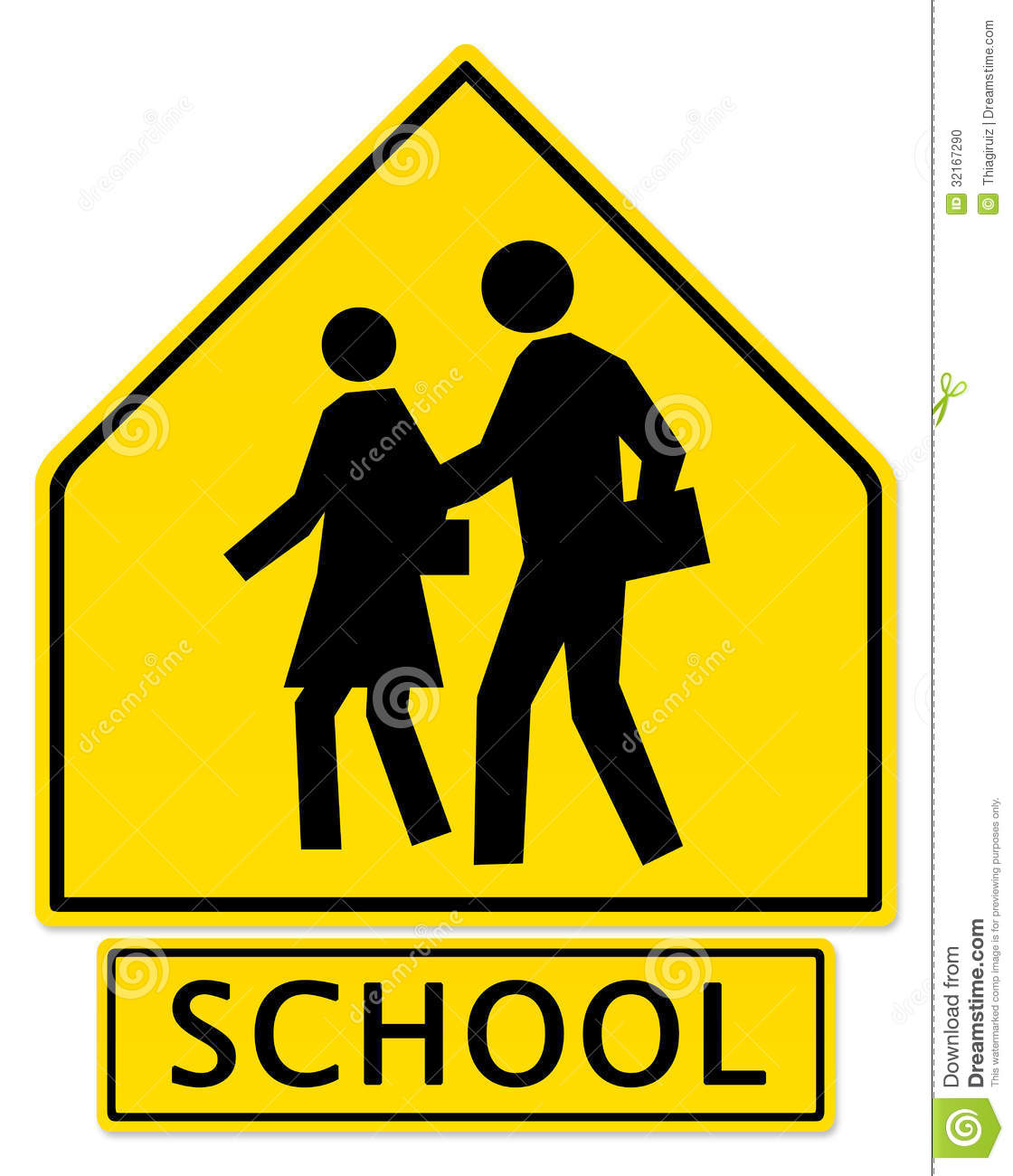School zone clipart.