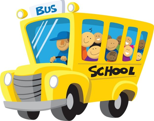 School Bus Arrival Clipart #1.