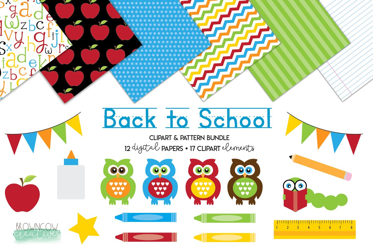 Back to School Clipart & Backgrounds.
