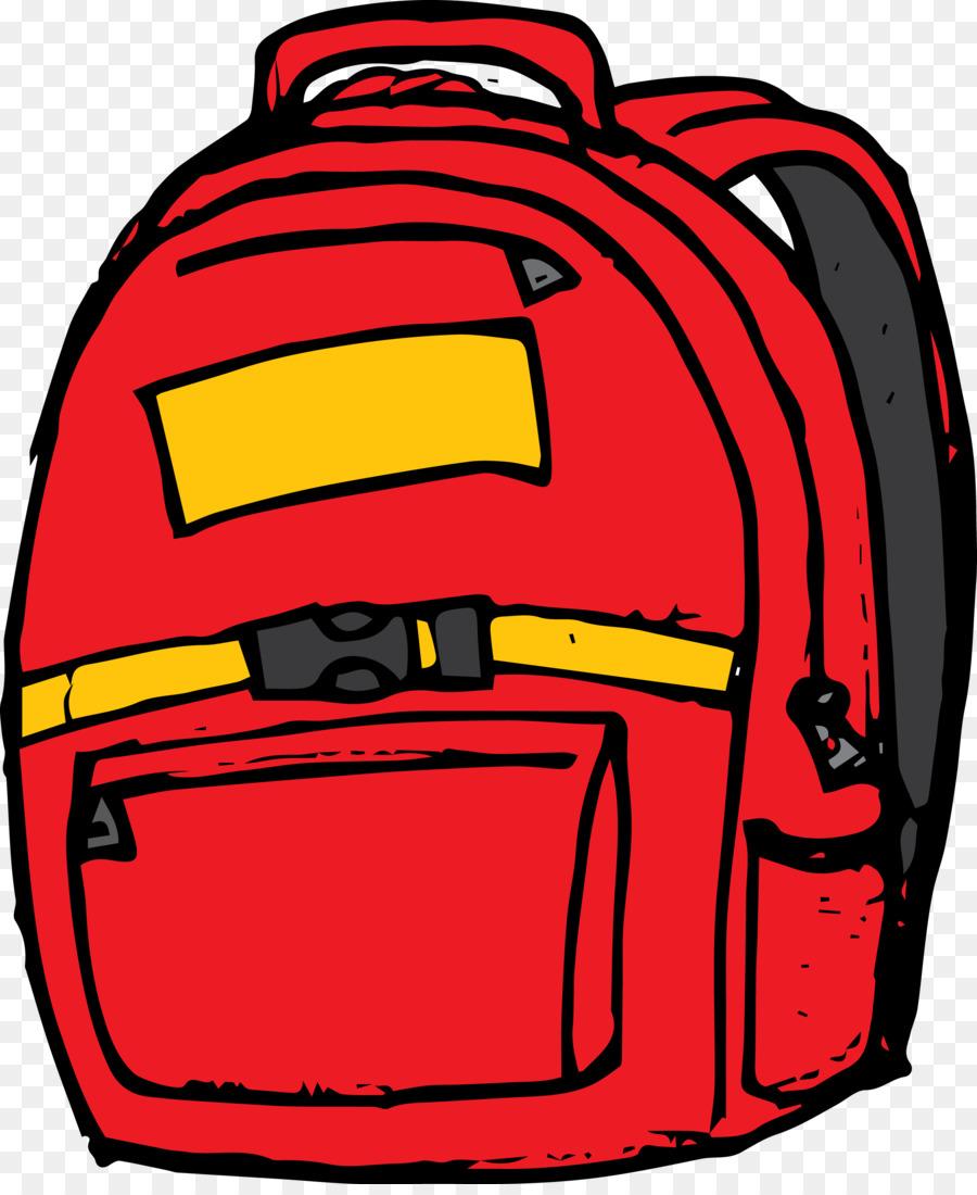 School Bag Cartoon clipart.