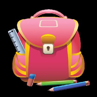 School Bag and Pencils.
