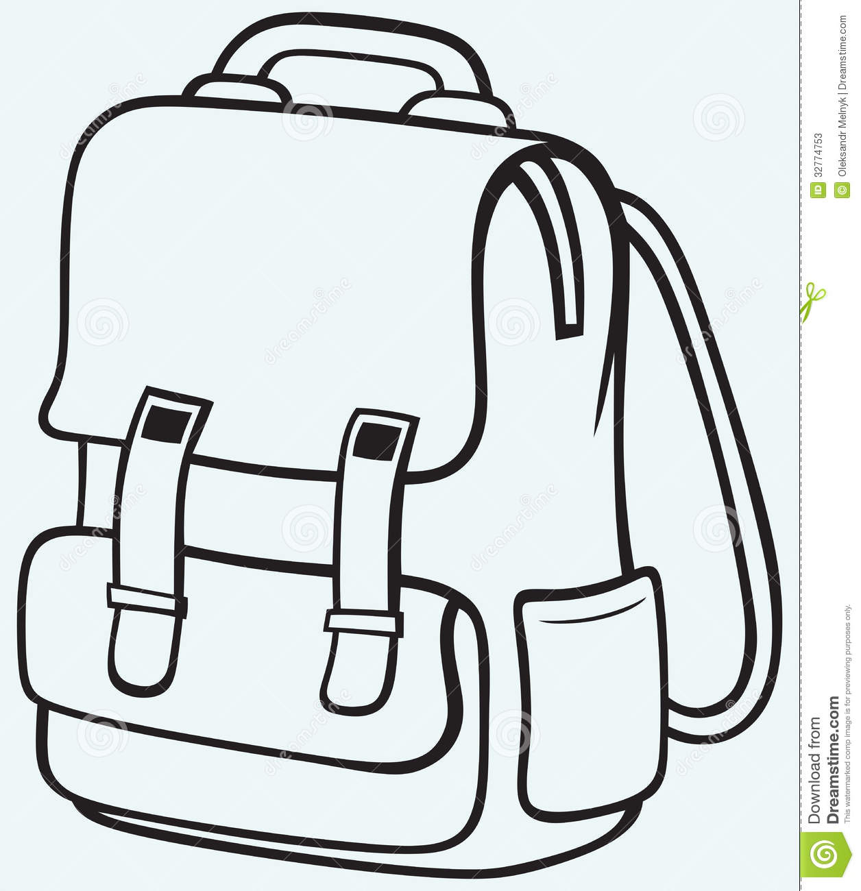 School bag clipart black and white 1 » Clipart Station.